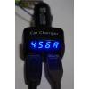 Мощная Автомобильная зарядка Амперметр, вольтметр, термометр на два USB выхода 4. 5А, 5V