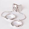 Кольцо хомут безразмерные кольца сильвер