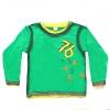 Кофту детскую зеленную с длинным рукавом