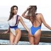 Слитный модный ретро купальник монокини с высокой талией 2016 2017 Плавки трусы экстрим стринги Бандо