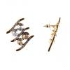 Серьги-гвоздики Росчерк золотистый металл