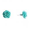 Серьги гвоздики Роза мини-1, 5 бирюзовая