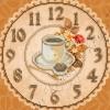 Набор для вышивки бисером Часы Чашечка эспрессо