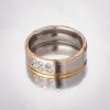 Кольцо Обручка камней золотой ободок