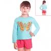 Кофту для девочки голубую бабочка