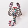 Кольцо скорпион самоцветы ассорти 17