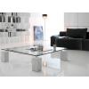 Итальянская мебель из стекла и стеклянные изделия: столы, стулья, тумбочки, полки, стеллажи, витрины