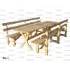 Набор садовой мебели (стол и 2 скамейки)  / Нм-1