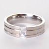 Мужское кольцо обручальное страза 17
