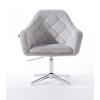 Парикмахерское кресло HROVE FORM HR830CROSS стальной велюр