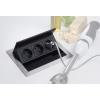 Блок розеток EVOline FlipTop Push S 3x220. Автоматический подъем крышки