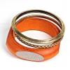 Браслет женский золотого и оранжевого цвета