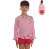 Кофту детскую розовую с сердечками