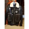 Зимнюю мужскую куртку кожа и мех натуральные пилотка