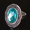 Перстень безразмерка бирюзовый камень