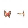 Серьги-гвоздики Бабочки металл по золото