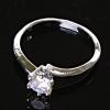 Кольцо Помолвочное корона с камнем