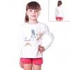 Кофту для девочки белую с бабочкой
