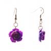 Серьги-подвески Роза-1, 5 фиолетовая