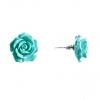 Серьги гвоздики Роза мини-1, 7 голубая