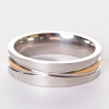Мужское обручальное кольцо двухцветное