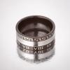 Кольцо Обручка римские цифры черный ободок