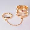 Кольцо на два пальчика спираль кольцо голд