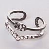 Кольцо на фалангу скоба под серебро