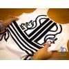 Печать на ткани флоком
