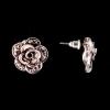 Серьги-пусеты Розы, темные стразы