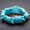 Браслет на резинке Черепахи бирюзовый