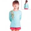 Кофту детскую голубую с березовой ветвью