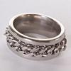 Мужское кольцо обручальное цепь 17