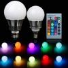 10W RGB LED Лампа, разноцветная светодиодная лампа, цоколь Е27