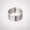 Кольцо Обручка под серебро римские цифры