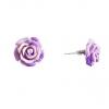 Серьги гвоздики Роза мини-1, 5 сереневая