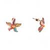 Серьги-гвоздики Морская звезда под золото