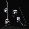 Серьги продевка шар под серебро