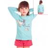 Кофту для девочки голубую с бабочкой