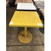 Бу стол желтый на металлической ноге